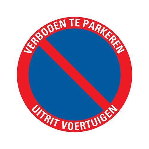 PickUp plaat 'Verboden te parkeren Uitrit voertuigen'