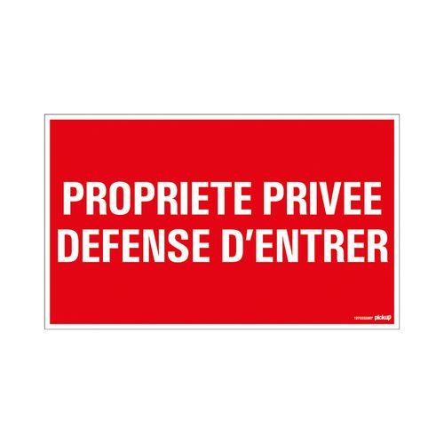 Pictogram Pickup Propriété privée Défense d'entrer 330x200mm