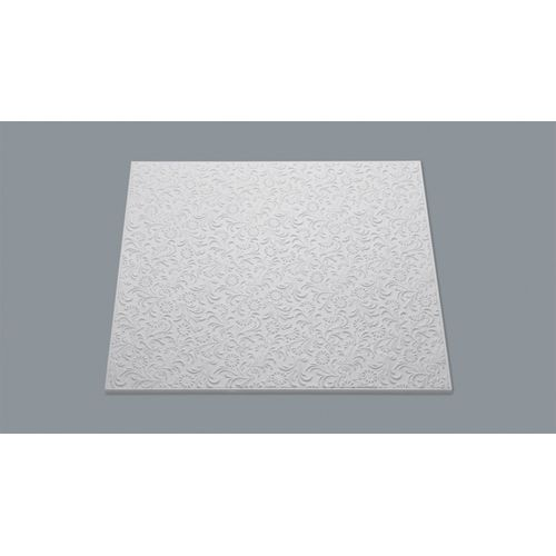 Decoflair plafondtegel 'T107' polystyreen 50 x 50 x 1 cm - 8 stuks