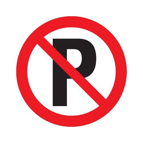 Pickup bord PVC Verboden te parkeren 300mm