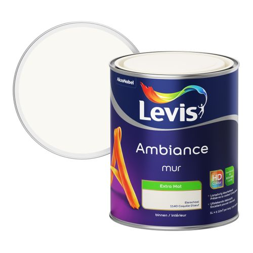 Peinture murale Levis Ambiance Mur coquille d'oeuf extra mat 1L