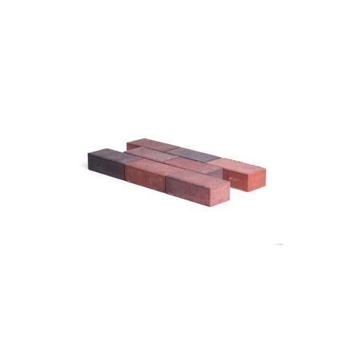 Pavé en béton Coeck 22x11x7cm rouge/noir chanfrein 3,5/5,5  benor
