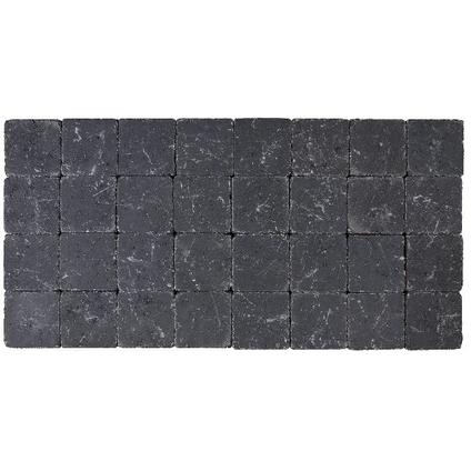 Coeck klinker zwart getrommeld 10x10x4cm