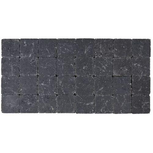 Klinker tambouriné noir 10X10X4cm