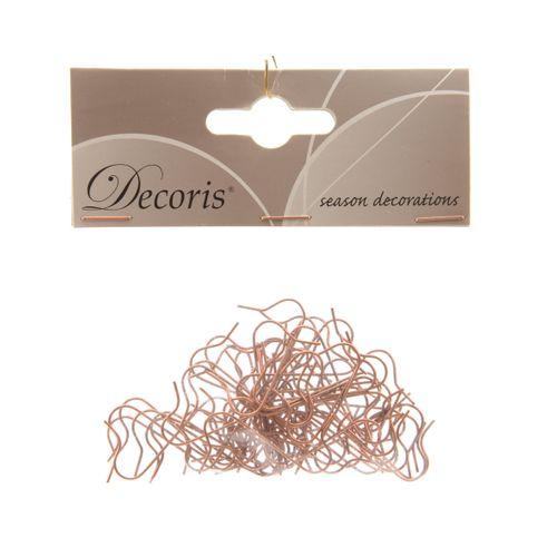 Attache boule de Noël Decoris cuivre 3,5 cm 50pcs