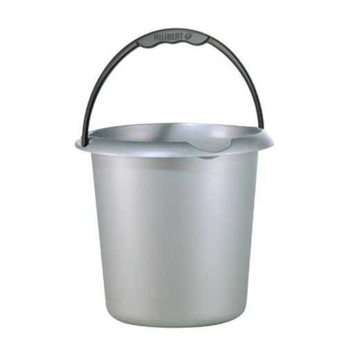 Allibert emmer 'Ergo' staal grijs 10 L