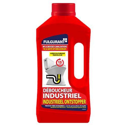 Déboucheur industriel WC et grosses canalisations Fulgurant 900 ml