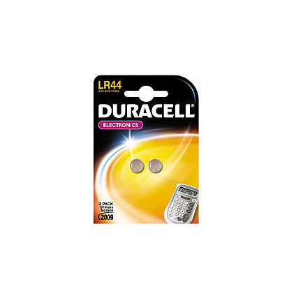 Pile bouton alcaline Duracell 'LR44' 1,5 V - 2 pcs