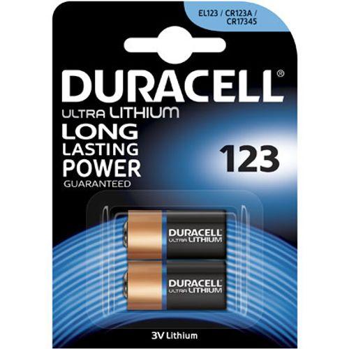 Duracell ultra lithium batterij '123' 3 V - 2 stuks