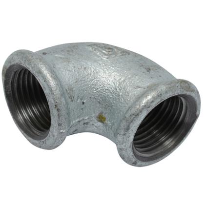 Sanivesk knie gegalvaniseerd staal 3/8 V x 3/8 V