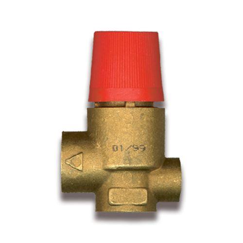 """Sanistal veiligheidsklep voor manometer FF 1/2""""x1/4"""" messing"""