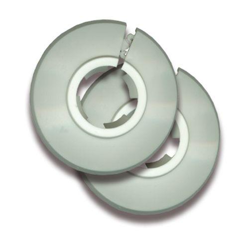 Rosaces pour tuyau Saninstal 2 pièces Ø22mm plastique blanc