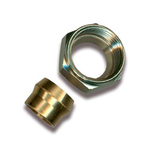 Sanistal aansluitkoppeling voor koperen buis 15x1mm messing
