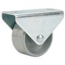 Döner bokwiel met plaat glijlager kunststof grijs 25mm 40kg
