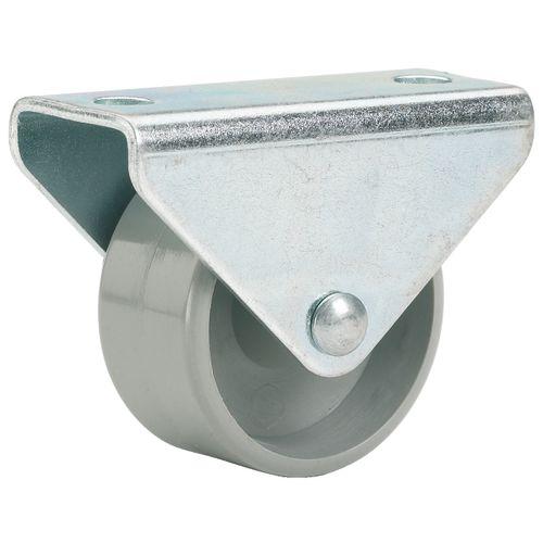 Döner bokwiel met plaat glijlager kunststof grijs 45mm 50kg