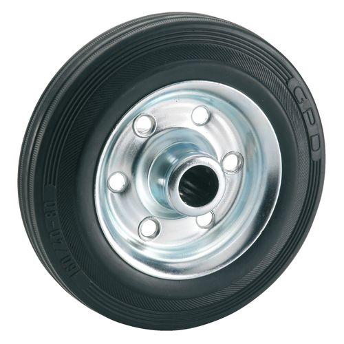Dörner Helmer luchtbandwiel rubber zwart 12,5cm