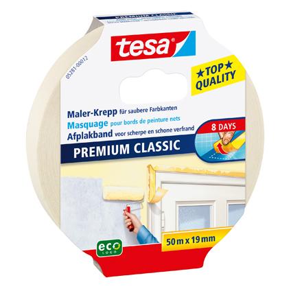 Tesa afplaktape Premium Classic 50mx19mm