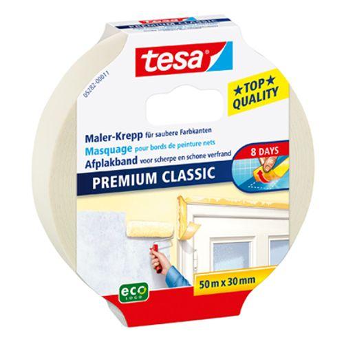 Tesa afplaktape Premium Classic 50m x 30mm