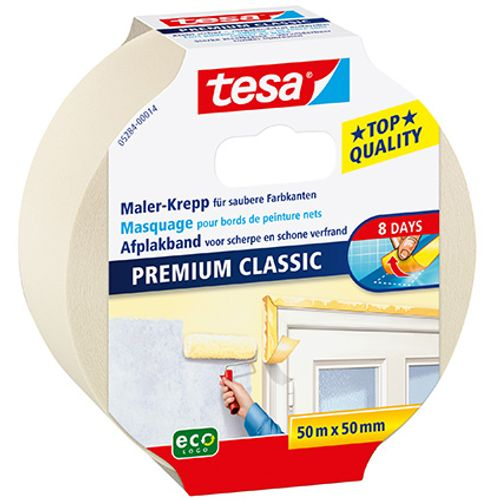 Tesa afplaktape Premium Classic 50m x 50mm