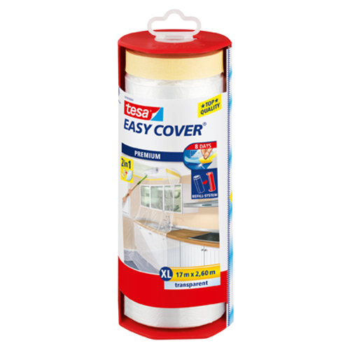 """Bâche de protection autocollante Tesa """"Easy Cover XL"""" avec dérouleur 17mx260cm"""