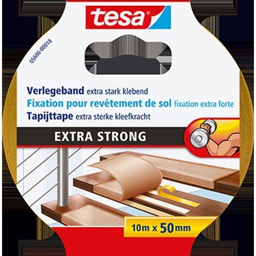 Ruban tapis Tesa 'Extra Strong' jaune 10mx50mm