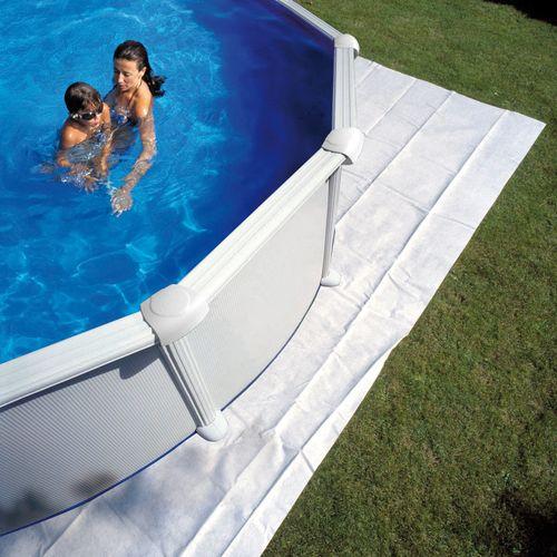 Bodemtapijt voor ovaal zwembad Gre 350x350cm