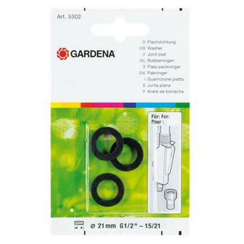 Joints plats Gardena 21 mm – 3 pcs