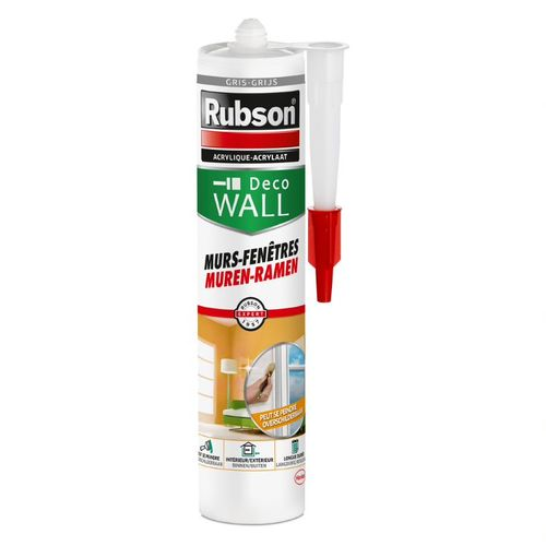 Mastic d'isolation Rubson Deco Wall Murs-Fenêtres gris 280 ml