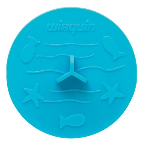 Bouchon d'évier Wirquin 'Frisby' universel bleu  Ø 105 mm