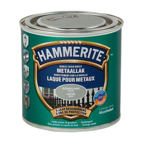 Hammerite satijnlak grijs 250ml