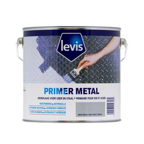 Levis primer 'Metal' grijs 2,5 L