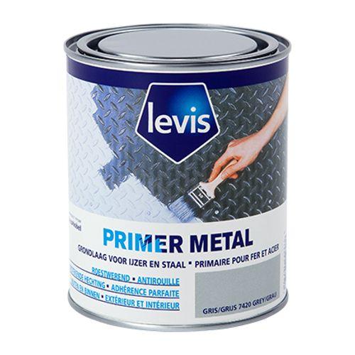 Levis primer 'Metal' grijs 750 ml