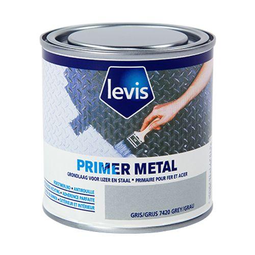 Levis primer 'Metal' grijs 250 ml