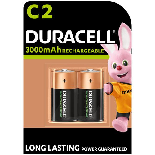 Duracell C Oplaadbare batterijen (2 stuks)