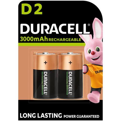 Duracell batterij NI-MH D 2200MAH 2st.
