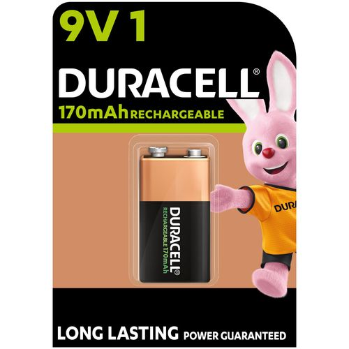 Pile rechargeable Duracell 'PP3 - 6LR61' 9 V