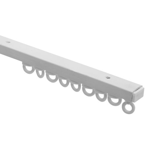 Rail complet plastique blanc 200 cm