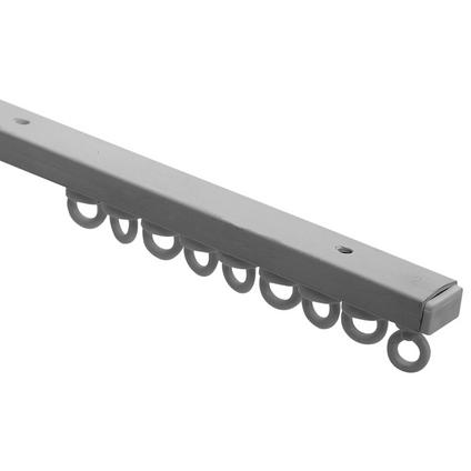 Rail compleet kunststof wit 300 cm