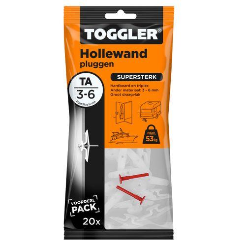 Toggler hollewandplug TA plaatdikte 3-6mm 20st.