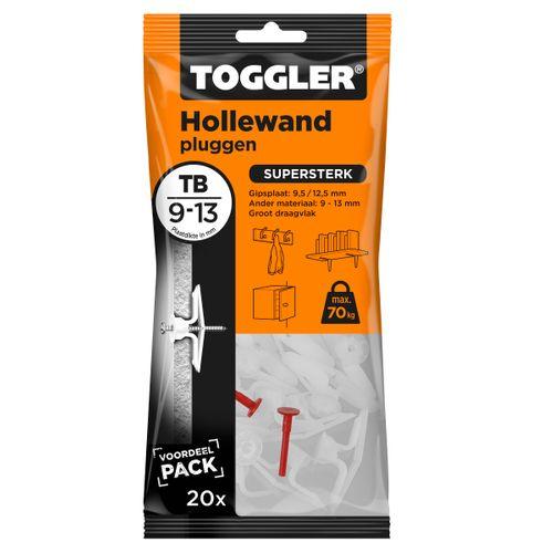 Toggler hollewandplug TB plaatdikte 9-13mm 20st.