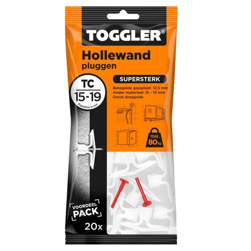 Toggler hollewandplug TC plaatdikte 15-19mm 20st.