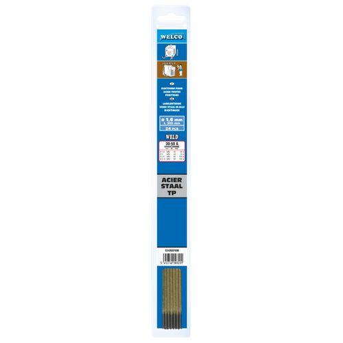 Electrodes revêtus Welco acier 1,6 mm - 24 pcs