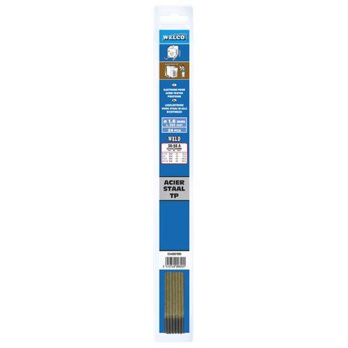 Electrodes de soudure Welco pour acier 2x300mm - 23 pièces