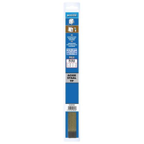 Electrodes de soudure Welco pour acier 3.2x350mm - 14 pièces