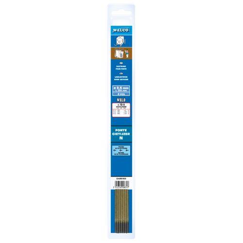 Electrodes de soudure Welco pour fonte 2.5x300mm - 4 pièces