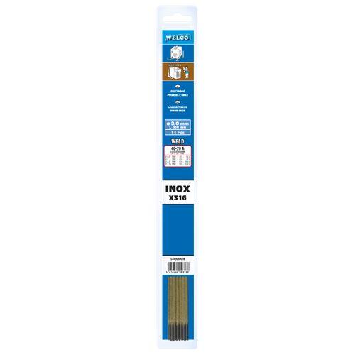 Electrodes revêtus Welco inox 2 mm - 11 pcs