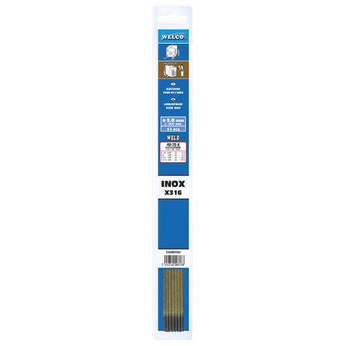 Electrodes de soudure Welco pour acier 2.5x300mm - 8 pièces