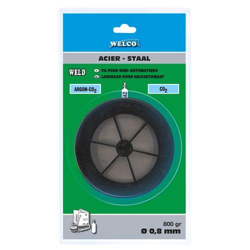 Fil à souder Welco pour semi-automatique 0.8mm 800g