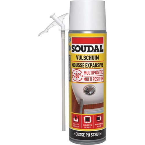Mousse d'isolation Soudal Multipositions 500ml