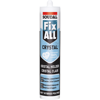 Colle mastic Soudal 'Fix All Crystal' 290ml